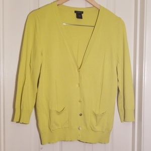 Ann Taylor  lime green sweater